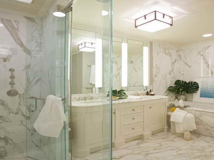 Merveilleux Calacatta Gold Tile Shower BR043