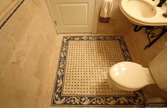 Travertine Floor Tile BR005