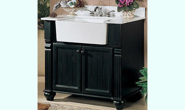 Cottage Farmhouse Bath Vanity 136 Fv38 Size W 38 X D 22 H 34 1 2 Materials Poplar Solids Distressed Black Or Polar White