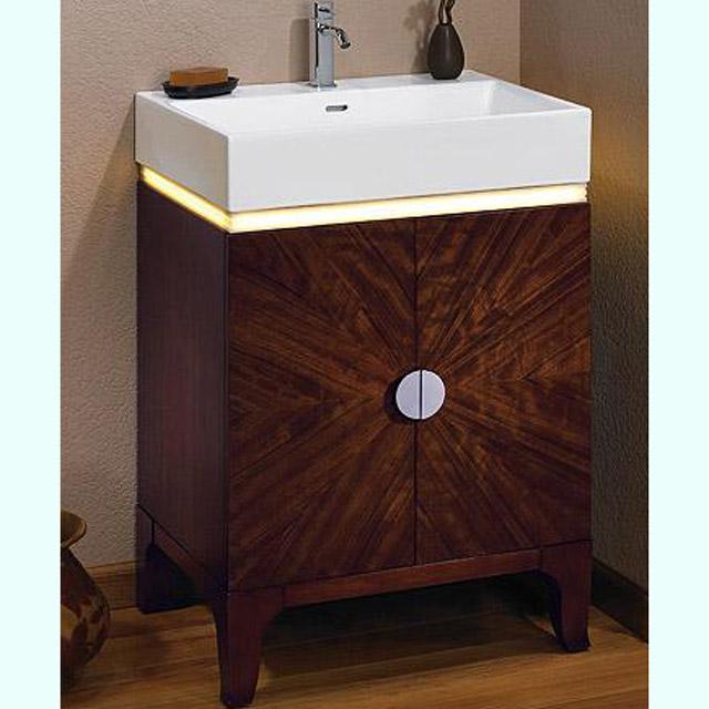 Bathroom Vanities |Half Moon Vanity with LED | Fuda Tile