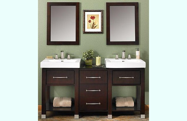 Bathroom Vanities Midtown Bathroom Vanity Fuda Tile - Bathroom vanities with shelves