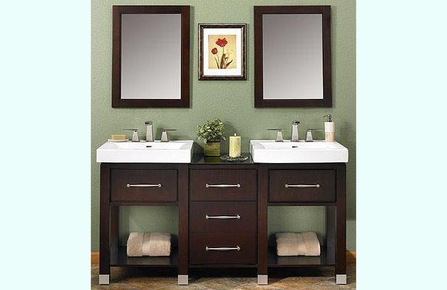 Midtown Bathroom Vanity 145 V24a Size W 24 X D 19 3 4 H 36 Finish Espresso Shown With 18 Bridge Between Two Vanities