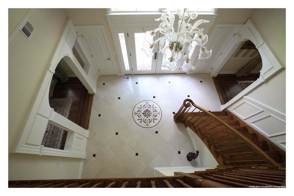 Front Foyer Floor Tiles : Entry foyer with custom waterjet medallion and 18x18 italian.jpg