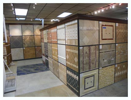 Tile Samples On Display In Elmwood Park Showroom